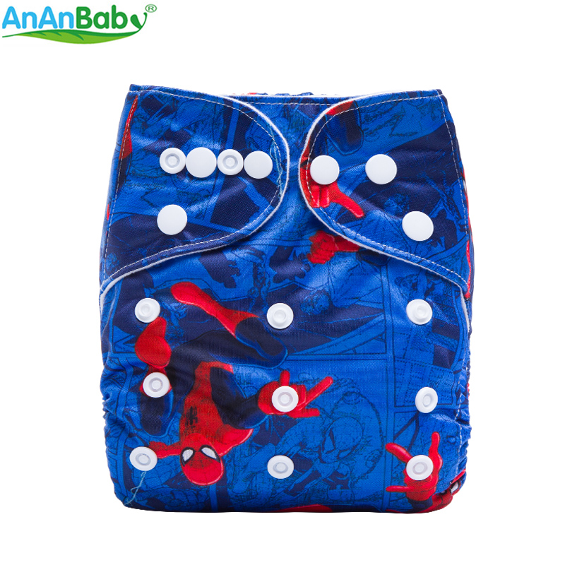 New Print Reusable Cloth Nappy With Suede Inner Baby Cloth Diaper Pocket Waterproof Pul Cover Fit 3-15kg [mumsbest] 3pcs washable waterproof baby nappy pul suit 3 15kgs adjustable boy diaper covers car print design cloth diaper cover