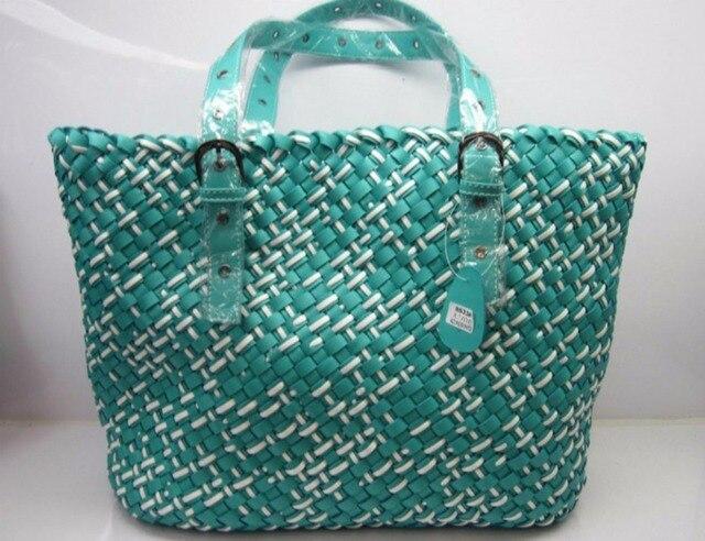 4e8288a87e Mode sac tissé nouvelle 2014 deux - couleur sac à bandoulière sac à main  grand sac