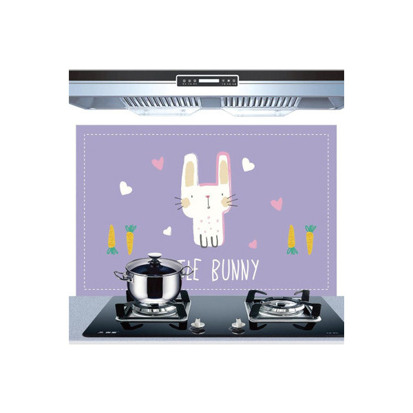 Самоклеющиеся обои для кухни из алюминиевой фольги, наклейки для кухонного шкафа, маслостойкие водонепроницаемые Мультяшные наклейки на стену - Цвет: J