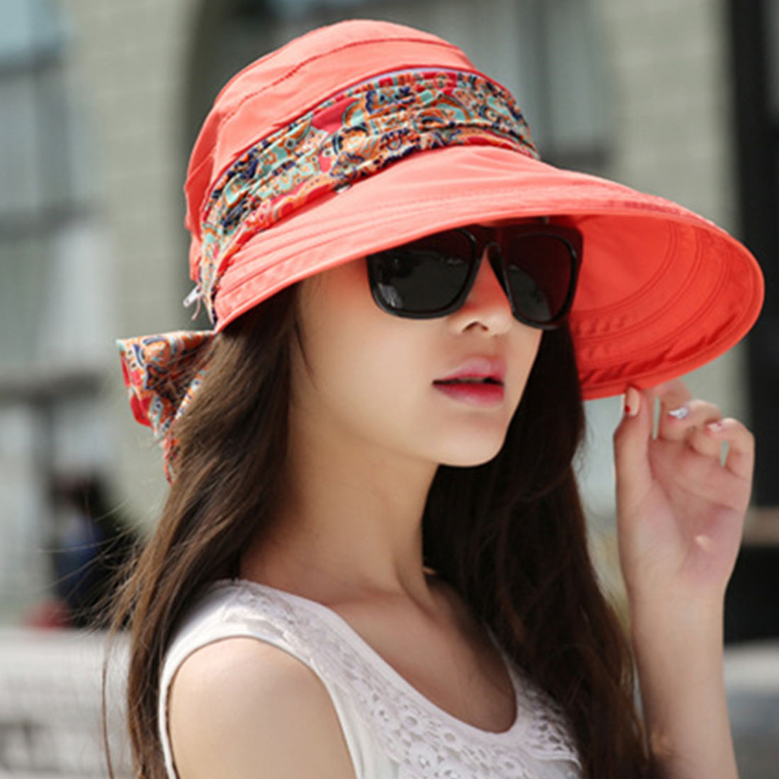 2018 New Women Summer Sun Hats With Big Heads Fashion Femmale Outdoor Hat For Girls UV Protection Visor