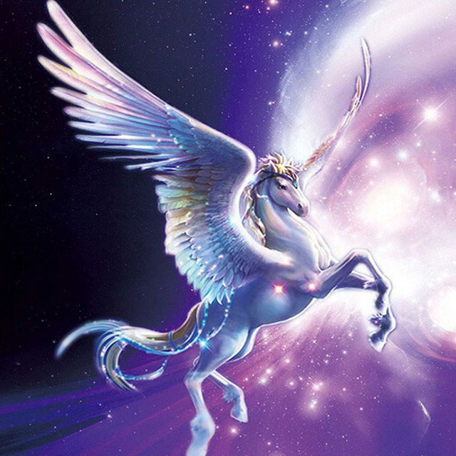 Mythical Creatures In The Fall Wallpaper Aliexpress Com Buy Diamond Painting Horse Flying The