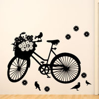 G089BICYCLE Wall Sticker Bike Cyclist Sports Kids Stickers Boys Vinyl Art Boy Room Ideas Bedroom Wall