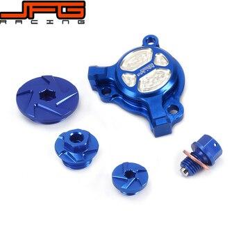 Blue CNC Guard Cap Timing Oil Filter Screw Bolt For YZ250F YZF250 03 04 05 06 07 08 09 10 11 12 13 YZ450F YZF450 2003 2004 2005