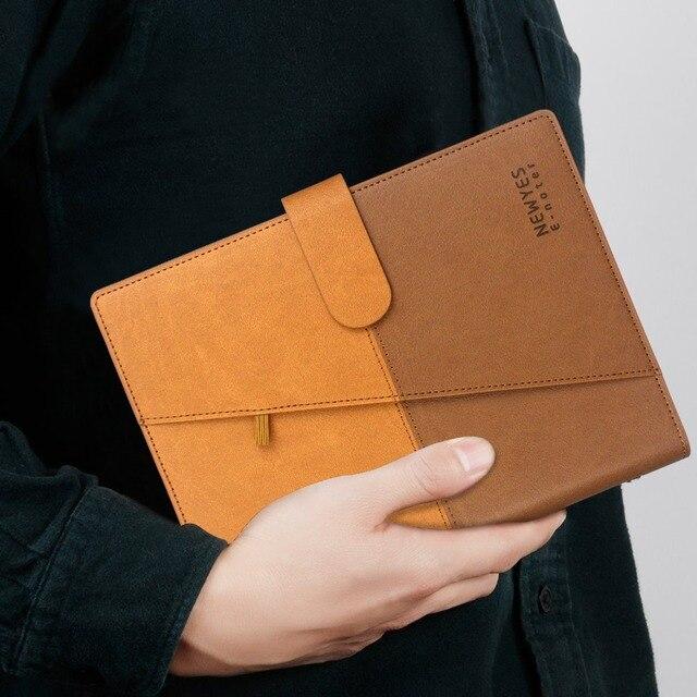 NEWYES Cuaderno borrable inteligente, papel de cuero, libreta con cable reutilizable, almacenamiento en la nube, Flash, forrado con bolígrafo