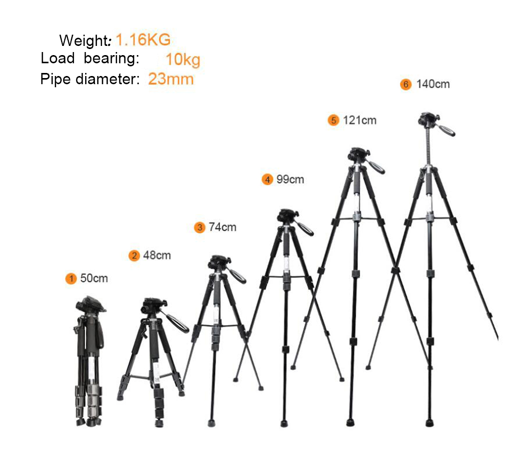 """Huepar Multi function Adjustable Height thicken aluminum laser level tripod /4"""" and 5/8""""-in Laser Levels from Tools    3"""