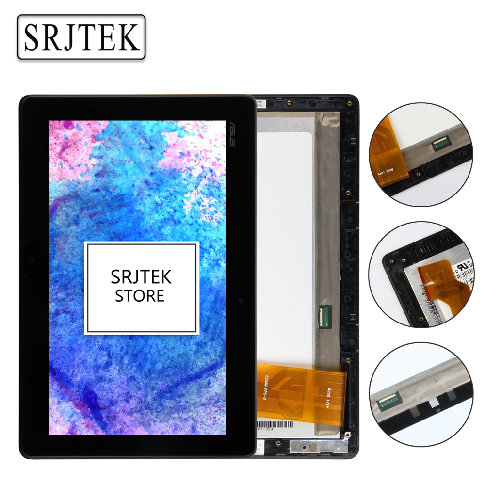 Srjtek 10.1 For Asus VivoTab RT TF600 TF600T TF600TG TF600TL Touch Screen Digitizer Sensor LCD Screen Display Assembly & Frame original touch screen glass lcd display panel sreen with frame for asus vivotab rt tf600 tf600tl 5234n fpc 2 free shipping