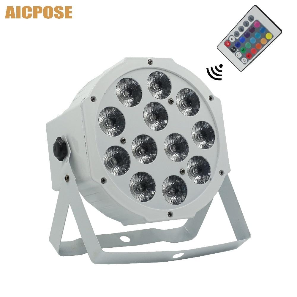 12x12w Flat Par Led With Remote Control White Led Par Light 12*12W RGBW 4in1 Disco DJ Bar Party Wedding Stage Light