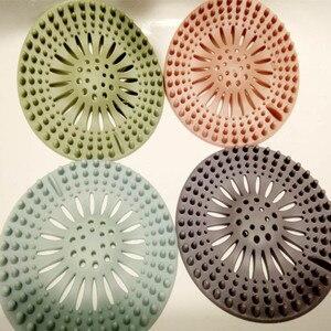 Image 5 - ביוב שפך מסננת כיור מטבח מסנן PVC ניקוז שיער התפסן כיסוי Lavabo מטבח גאדג טים אביזרי 5 צבעים