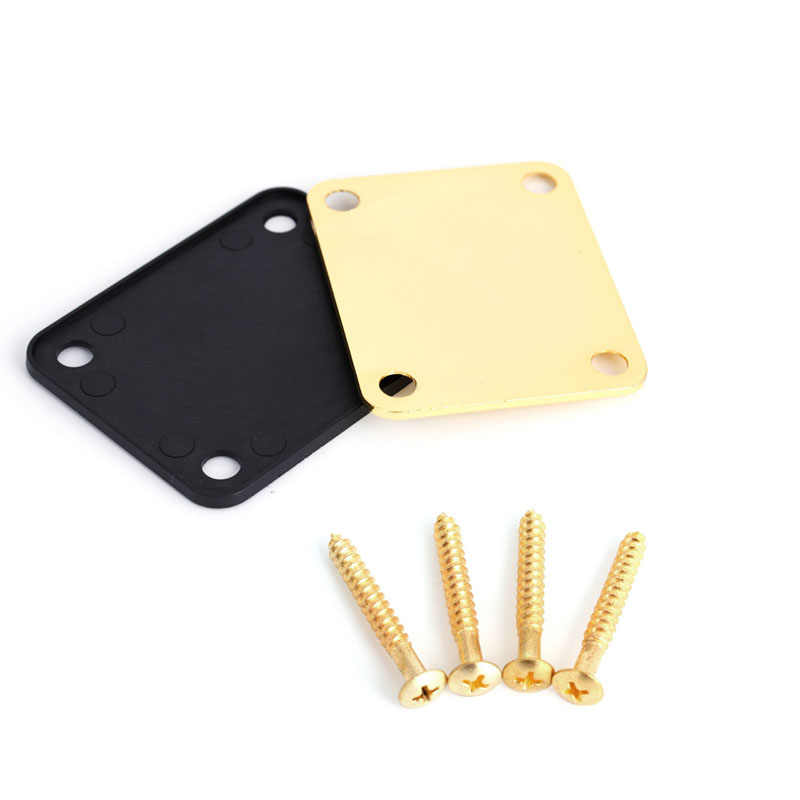 1Set Neck Plate Metal Replacement Part For Fender Strat Electric Guitar Gold