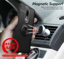 OnePlus 7 Pro Stand Case 360 Degree Ring Finger Holder Car Magnet Phone Case For OnePlus 6T 1+6 T 6 Case Fundas Capa