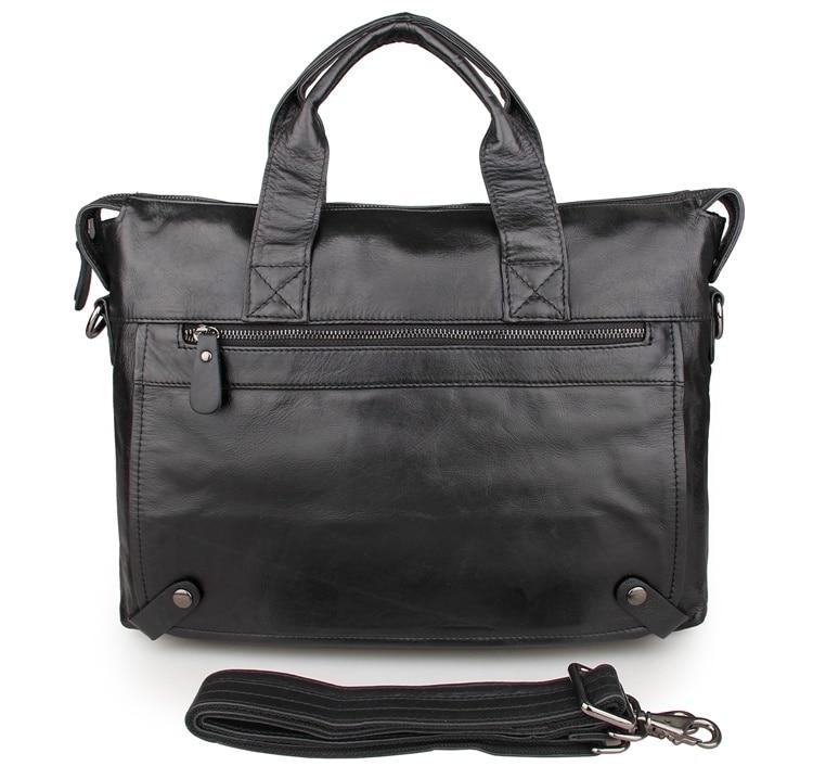 JMD Vintage Style Real Leather Hand Briefcase Laptop Bag Men Messenger Bag 7120A-1 jet jmd 1