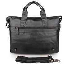 цена на Free Shipping JMD Vintage Leather Men's Black Briefcase Laptop Bag Messenger Handbag Best Selling #7120A