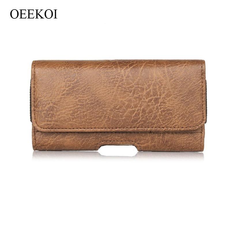 OEEKOI Stone Pattern Belt Clip Pouch Holster Case for HTC U Play/Google Pixel/10 Lifestyle/10/Butterfly 3/Butterfly S/Butterfly