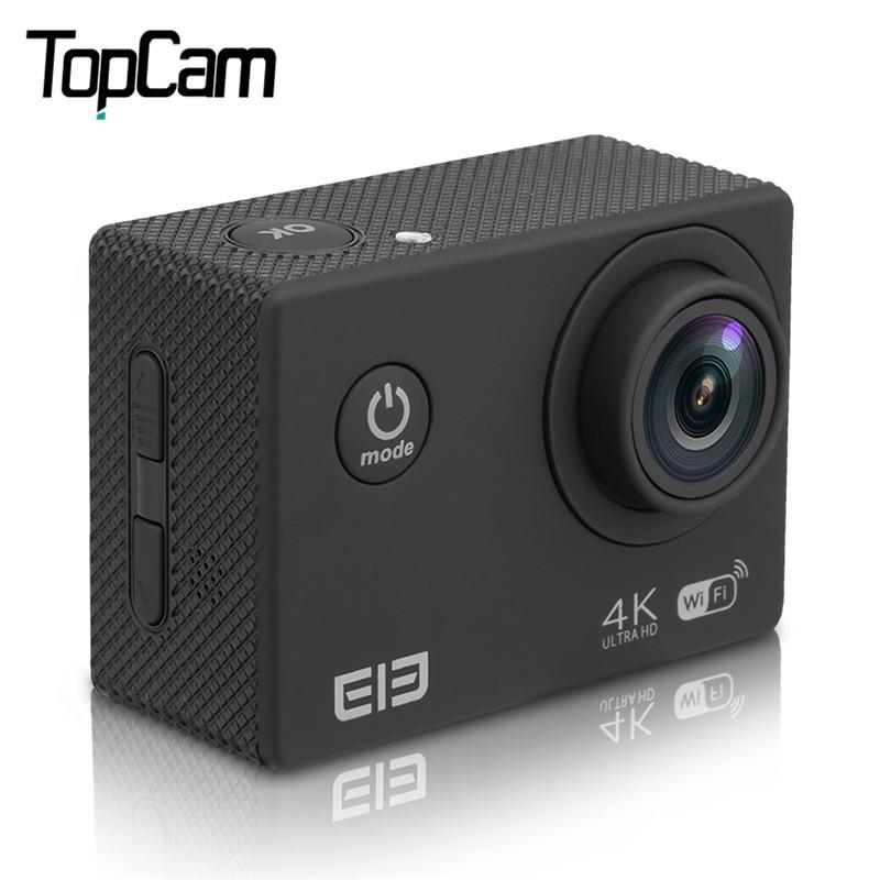 Prix pour 2017 Chaude D'origine Elephone ELE Explorer 2 pouces 4 K Ultra HD 170 Degrés Vue Angle WiFi avec Allwinner D'action caméra