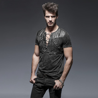 Goth Steampunk Rock Men S Short Sleeve T Shirt Spring Summer Military Style Black Casual Tee