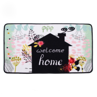 CIGI Plant Printed Floor Mat Cartoon Carpet Kitchen Rug Anti Slip Doormat Hallway Bedroom Living Room Bathroom Mat Entrance M