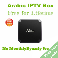 2019 Best Arabic IPTV Box support 800 HD channels&1000 VOD,free for lifetime Arabic IPTV Android Smart TV Box one time payment