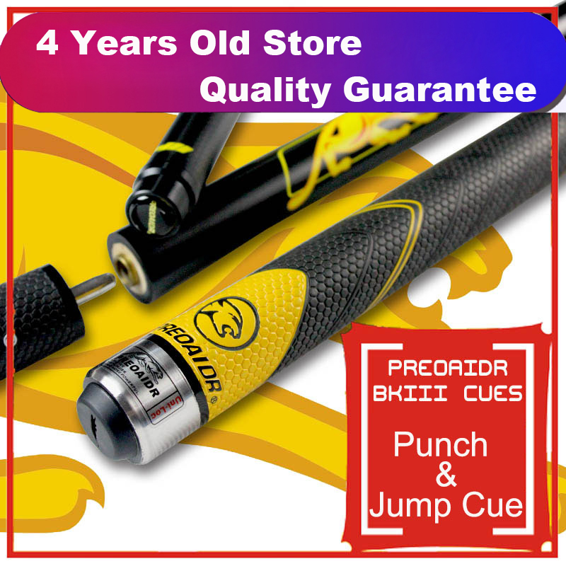 WOLFIGHTER 2019 Three Sections BK3 Pool Punch Jump Cue 13mm Tip Sport Handle 148 5cm Length
