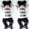 2017 baby boy girl clothes Long sleeve T shirt letter pattern pants 2 pcs suit newborn clothes s baby clothing set for spring