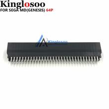 Termostabilità di alta qualità 64 Spille connettore slot per schede per il SEGA MEGA DRIVE MD Genesi console di gioco parte di Ricambio