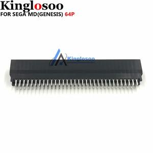 Image 1 - Termostabilità di alta qualità 64 Spille connettore slot per schede per il SEGA MEGA DRIVE MD Genesi console di gioco parte di Ricambio