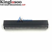 Thermostabilité haute qualité 64 broches connecteur fente pour SEGA MEGA DRIVE MD Genesis console de jeu pièce de rechange