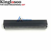 Thermostability high quality 64 Pin connector card slot for SEGA MEGA DRIVE MD Genesis game console Replacement part