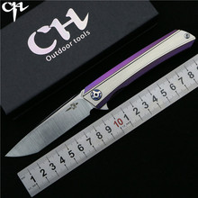 Ch3002 original design flipper klappmesser s35vn klinge kugellager tc4 titanium griff camping obst taschenmesser edc werkzeuge