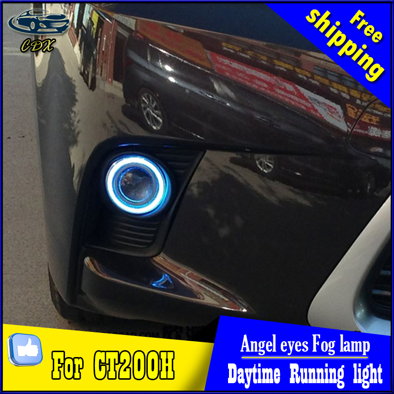 CDX car styling angel eyes fog light  for CT200h 2014 year LED fog lamp LED Angel eyes LED fog lamp Accessories купить