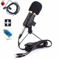 New MK F200TL Microphone Adjustable Sound Volume Noise Reduction Condenser KTV Audio Studio Recording Mic Update MK F100TL