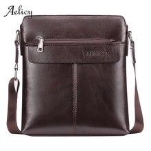 Bolso bandolera de cuero para hombre, bolso de mensajero de negocios para hombre, bolso Vintage nuevo para hombre, bolsa de teléfono, bolso principal