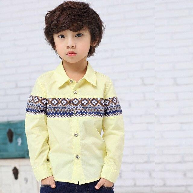 707cb7b30c61 Детские модные рубашки для топы для мальчиков повседневные хлопковые блузки  мальчик Школьная форма весна Одежда для