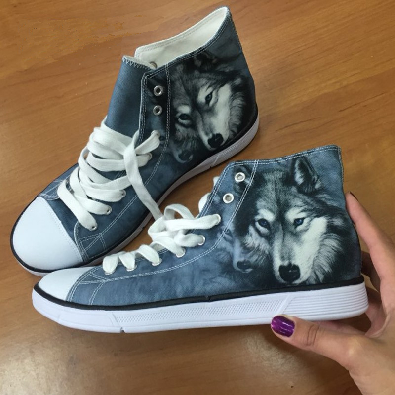 457ef14f5997 2018 Woman Shoes Super Mario Women Walking Shoes for Girls Lady Cartoon  Flat Sneakers 3D Printing High Top Flats Zapatos Mujer-in Women s Flats  from Shoes ...