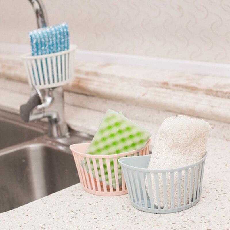 Hot Sell Bathroom Detachable Sprinkler Tube Racks Kitchen Sinks Plastic Storage Drain Basket