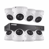 ANNKE 8CH 3MP CCTV System HD TVI DVR 8PCS 2048 1536 TVI Security Dome Camera Outdoor