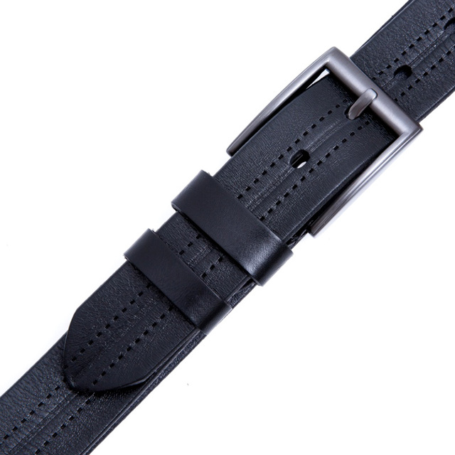 100% Genuine Leather Pin Buckle Men's Luxury Belt