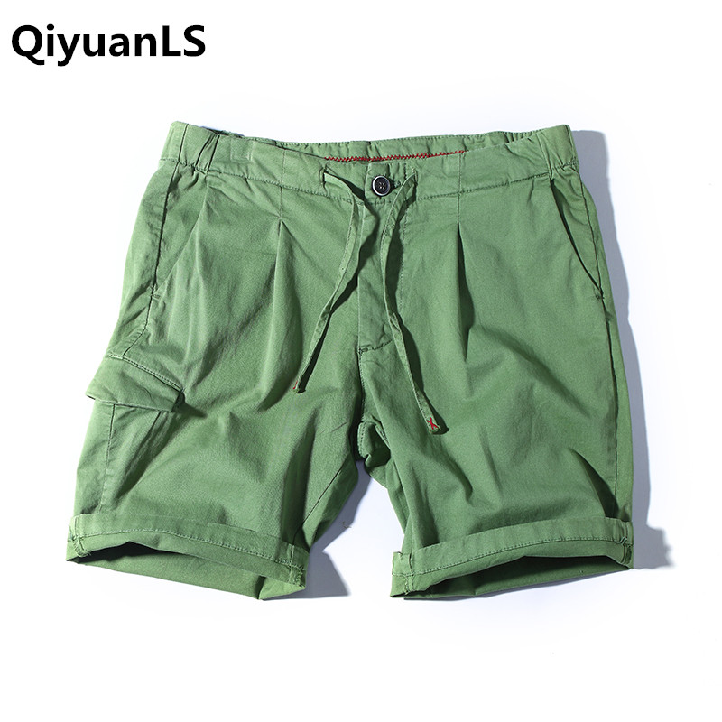 QiyuanLS Summer Men Shorts Male Casual Board Beach Short Trousers breathable Brand Clothing Newest 2018 Military Male Shorts