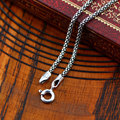 925 Sterling Silver Popcorn Chain Necklace Women Men Italy Chain Retro 100% Real Solid Thai Silver Vintage Chain Jewelry N065