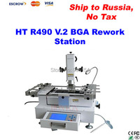 3 Zonas de Temperatura BGA máquina de reparación de BGA estación de la reanudación HONTON HT-R490 V.2 con panel de control LCD, tax Free a Rusia