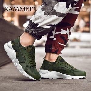 Image 4 - Кроссовки Xammep мужские сетчатые, повседневные брендовые сникерсы, лоферы на плоской подошве, дышащие, без застежки, большие размеры, весна осень