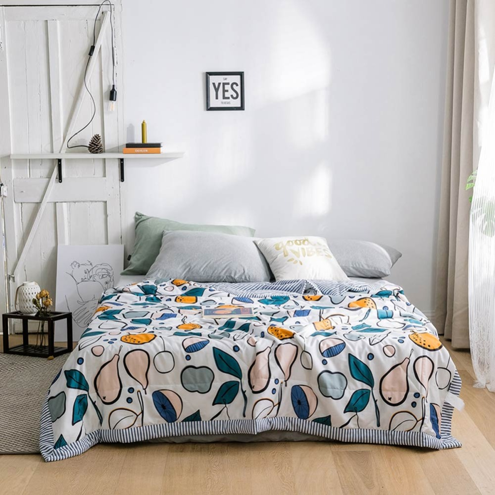 2019 INS Pears Fruits Leaves Stitching Comforter Summer Quilt Cotton Fabric Quilting Blanket Twin Full Queen Size Bedspread2019 INS Pears Fruits Leaves Stitching Comforter Summer Quilt Cotton Fabric Quilting Blanket Twin Full Queen Size Bedspread
