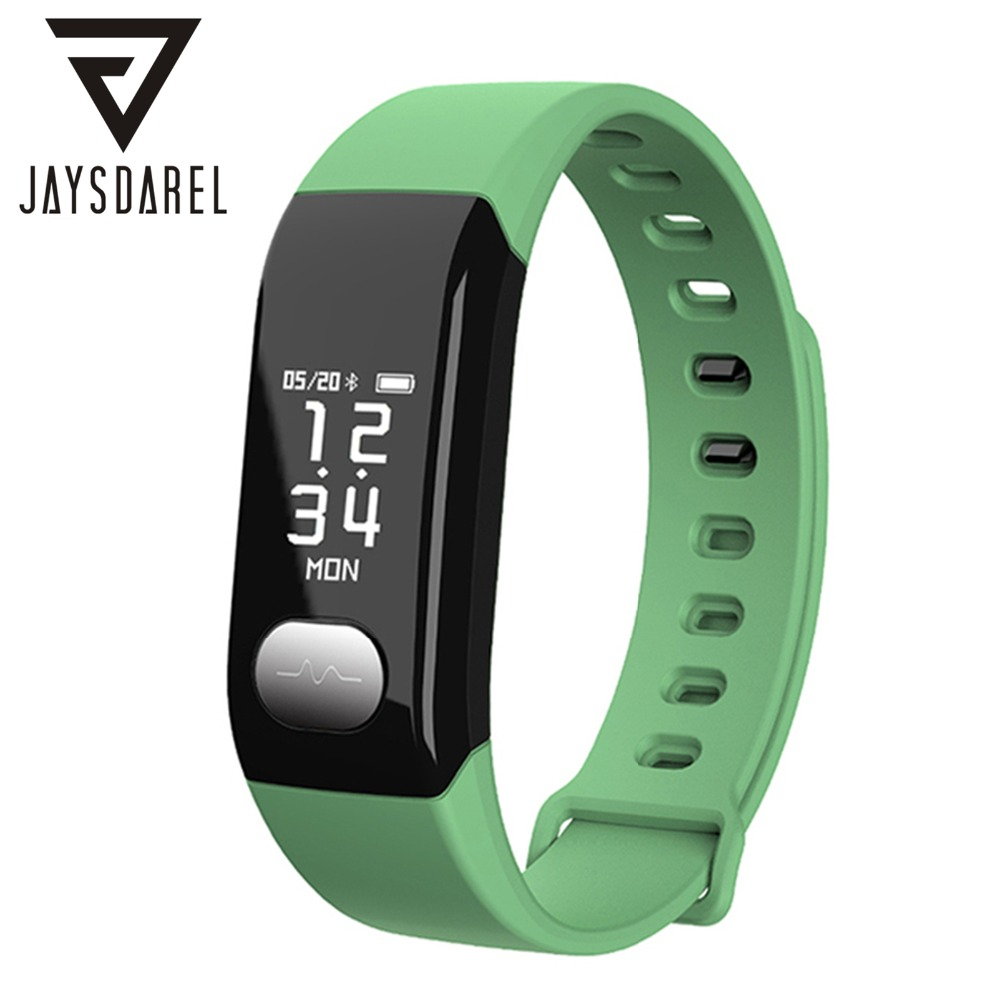 JAYSDAREL E29 ECG Heart Rate Monitor Smart Watch Blood Pressure OLED Wristband Smart Bracelet Fitness Tracker for Android iOS jaysdarel heart rate blood pressure monitor smart watch no 1 gs8 sim card sms call bluetooth smart wristwatch for android ios