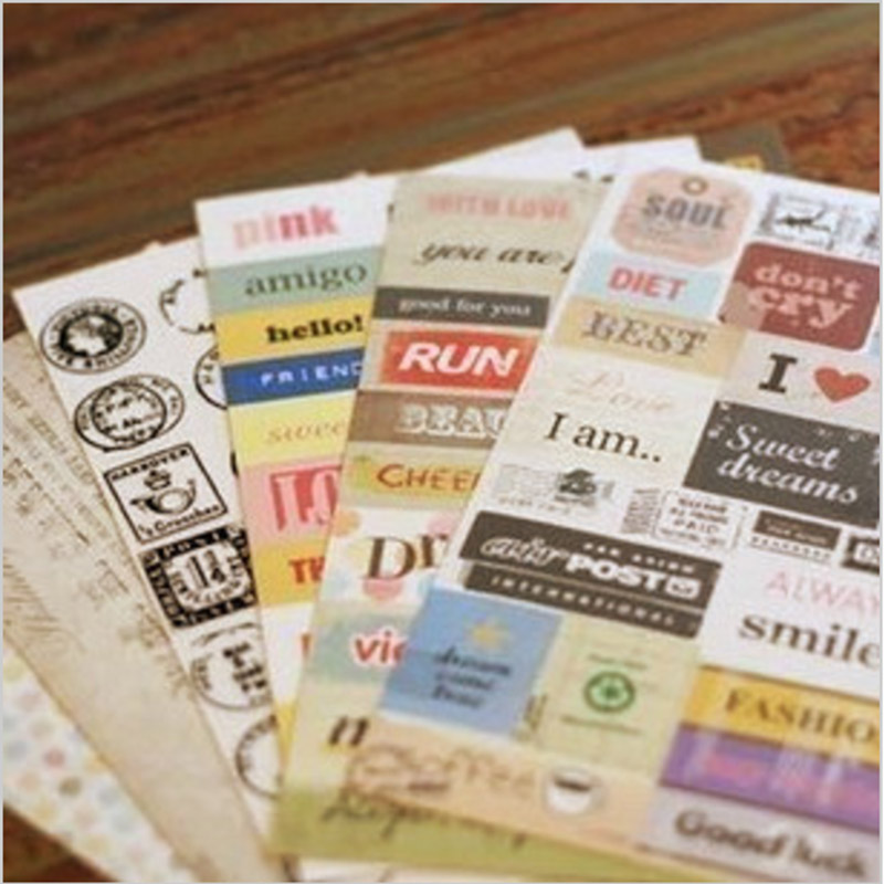 6 pcs lot 1 bag cute vintage paper love french retro stamp sticker for diary scrapbooking - Como decorar una agenda ...
