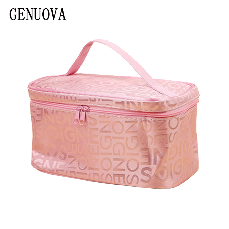 New Women's Cosmetic Bag Fashion Square Travel Makeup Bags Portable Storage Organizer Neceser Storage Travel Wash Toiletry Pouch 1 pcs tpu transparent cosmetic bag square shape portable zipper makeup storage bags for travel