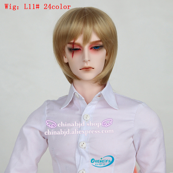 Wig For Doll BJD  free shipping 9-10 inch 1/3 high-temperature wig man short  Doll BJD Wig with bangs fashion type stylish hair 2