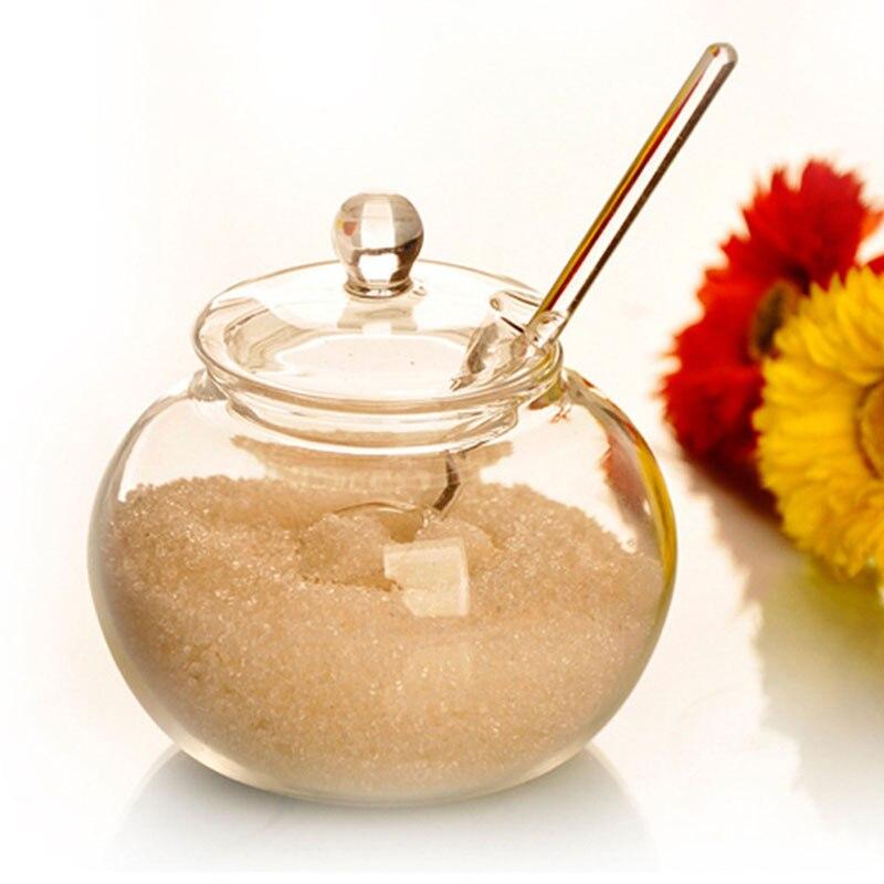 Soledi 250ml glass jar candy spice cylinder cooking sugar for Saleros de cocina