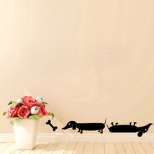New arrival Free Shipping diy wallpaper two Sausage Dogs Wall Sticker DACHSHUND Vinyl Decal Art
