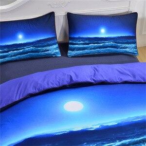 Image 2 - Juego de cama CAMMITEVER Sea Wave, funda de edredón con fundas de almohadas hogar textil para niños, 3 piezas, AU King Queen