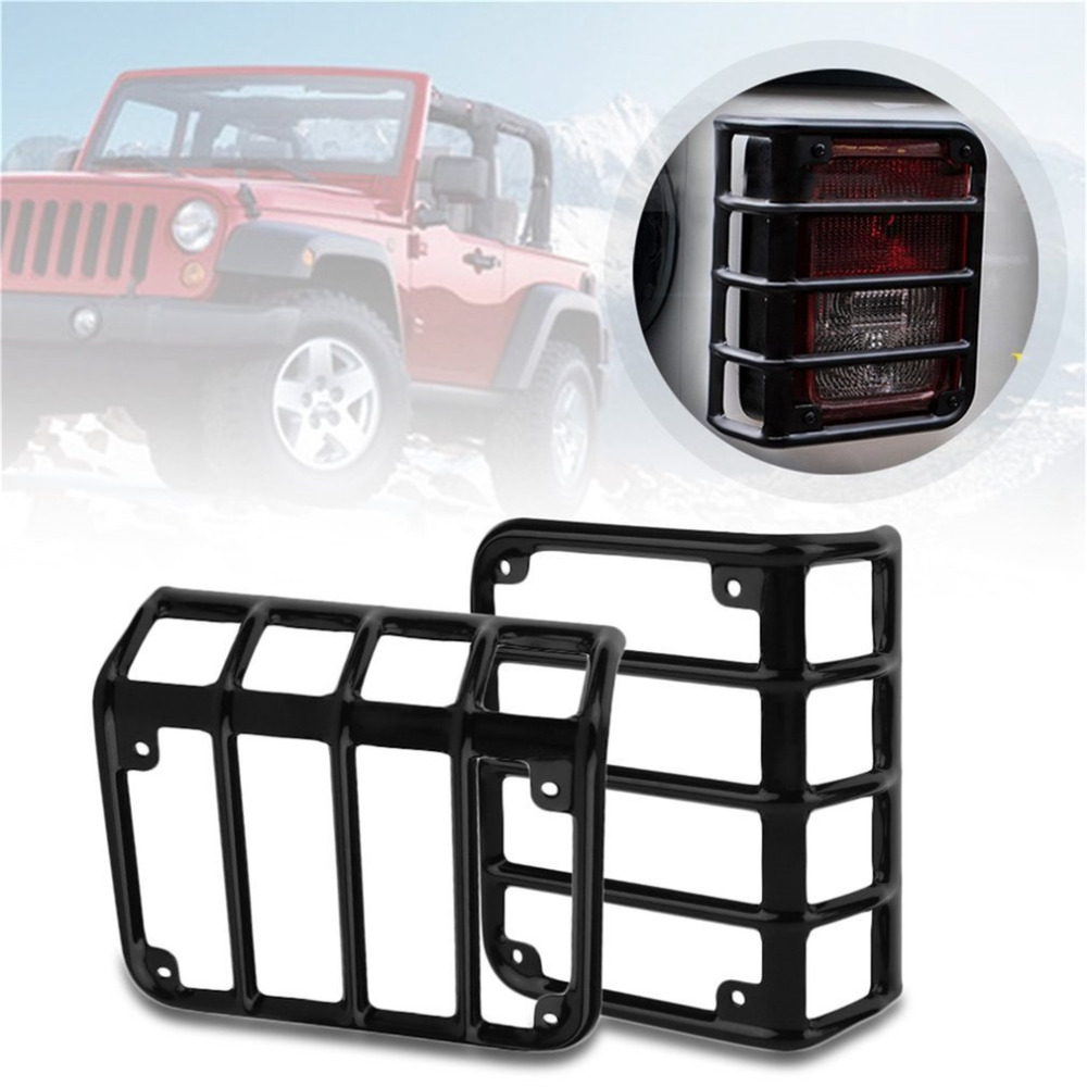 Car Tails Light Rear Lamp Cover Led Light Guard Cover Guards for Headlight For Jeep For Wrangler 07 16 Compatible Automobile Hot