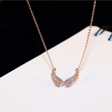 Fashion Angel Butterfly Wing Crystal Choker Necklace Women Biker Jewelry Antique Rhinestone Crystal Necklace / sweater chain